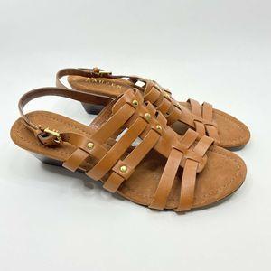 Ralph Lauren Shoes Lucetta Caged Leather Sandals